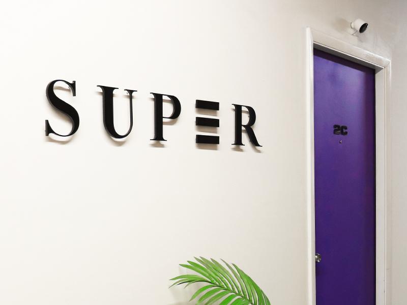 Studio Super Signage 3d sign type logotype logo design typography andy gregg studio super hand lettering lettering signage logo