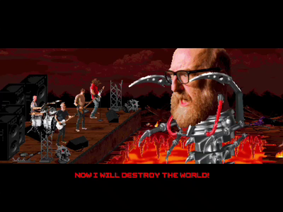 Mecha Brian Posehn 8-bit 16-bit animation 90s pixel art video game game design metal headbang red fang antidote brian posehn