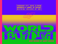 World Building: New Works by Andy Gregg nashville studio super andy gregg reception fine art world building watkins college watkins typography type art logomark logo type design hand lettering lettering design branding art show