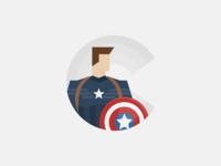 C for Captain America