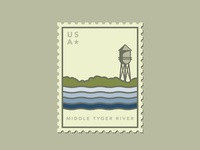 Middle Tyger River Stamp