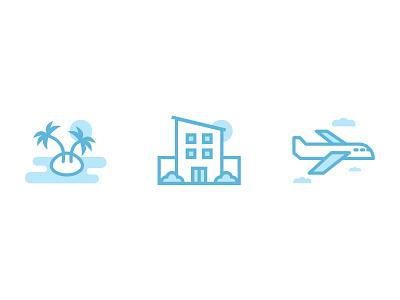 Simple Vacation Icons design illustration web design website ux ui minimal illustrated icon icons