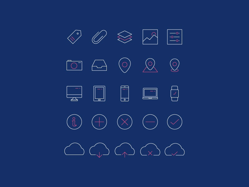 Minimal line icons pack 2