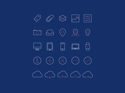 Minimal Line Icons Pack 2 (Ver. 3) vector ui outlines lines icon set icons icon freebies free color