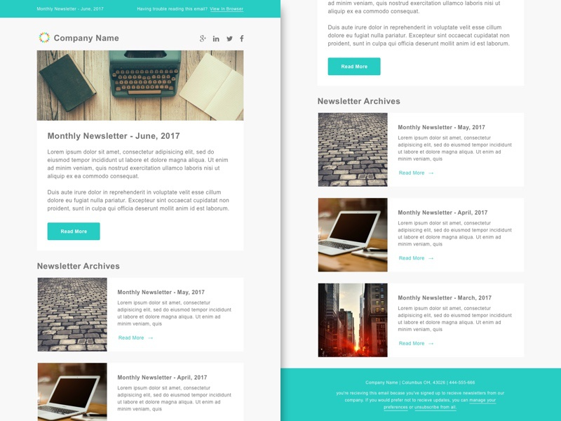 Smashfly Email Newsletter Template 1 By Paul Circle Dribbble