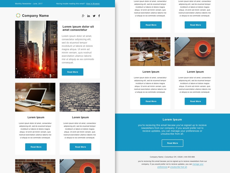 SmashFly Email Newsletter Template By Paul Circle Dribbble - Email ad template