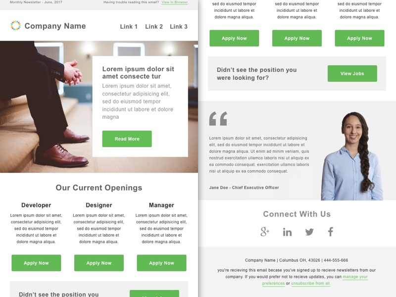 smashfly email job listing template 1 by paul circle dribbble
