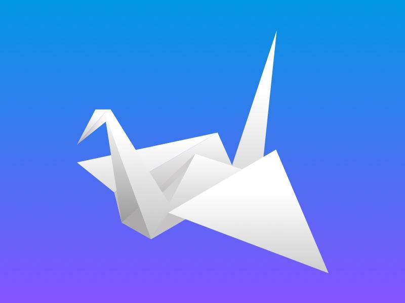 Origami Bird By Paul Circle Dribbble