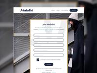 Fashion Concept - Registration Form