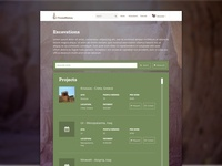 TrowelNation - Excavation Page Design