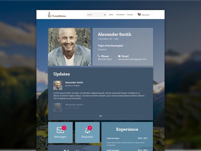 Trowelnation user page design