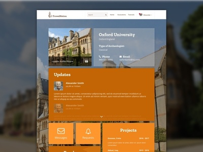 TrowelNation - Company Profile Page Design