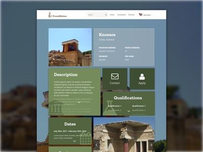 TrowelNation Excavation - Job Posting Page Design