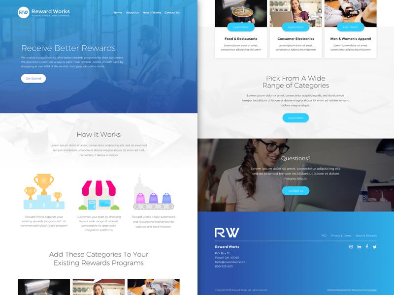 RW Home Page Ver.1 minimal illustration designers mx web desgin web landing page blue agency digital marketing