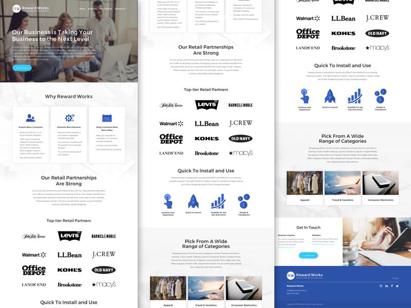 Rw Home Page Ver.4 marketing web design website minimal ux agency ui web design