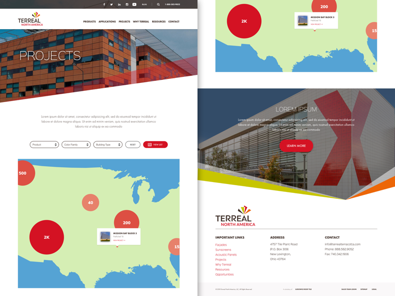 TN - Project Page Map View marketing web design material website minimal agency ux ui web design