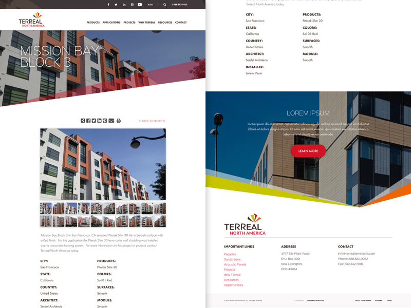TN - Singe Project Page marketing web design material website minimal ux ui web design