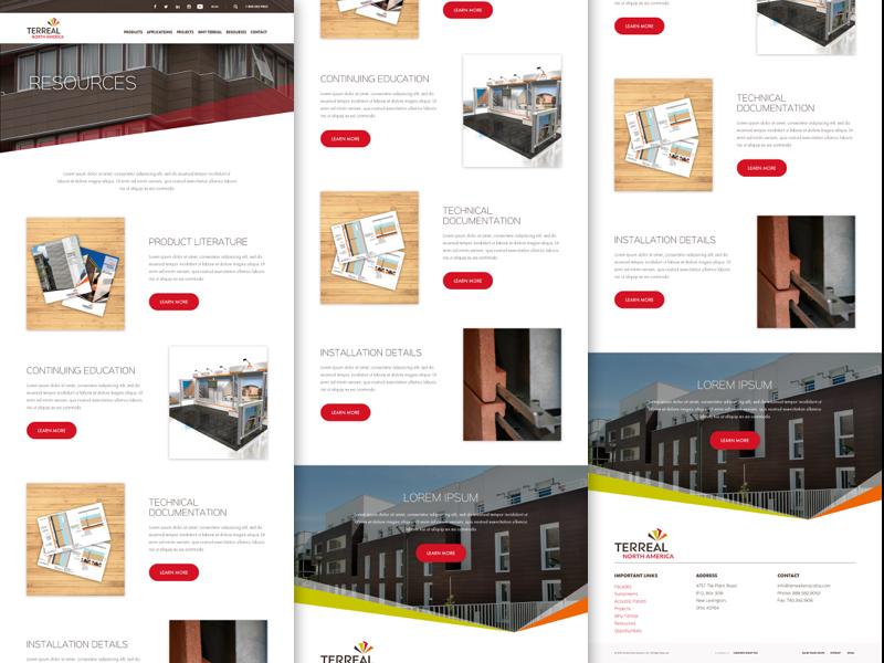 TN - Resources Page marketing web design website minimal ux ui web design