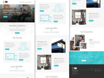 RM - Home Page Concept typography icons elements agency blue illustration marketing branding web design website minimal ux ui web design