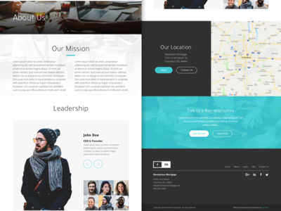 RM - About Page blue elements marketing branding web design material website minimal ux ui web design