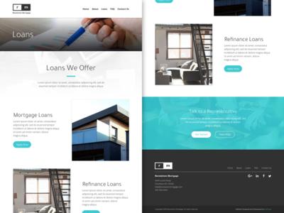 RM - Loans Page blue web design website minimal ux ui web design