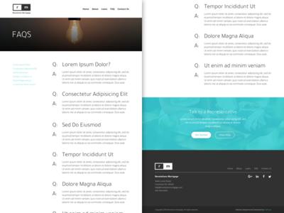 RM - FAQs marketing branding web design material website ux ui web design