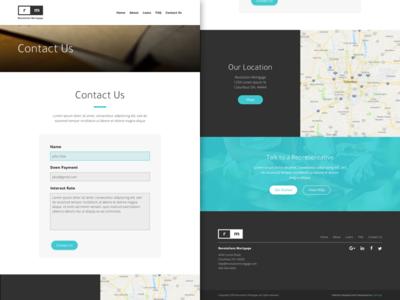 RM - Contact Us marketing branding web design material website minimal ux ui web design