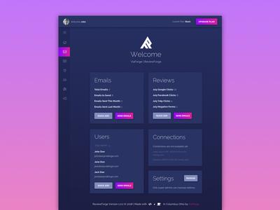 ReviewForge -   Home Dashboard app elements marketing illustration web design material website minimal ux ui web design