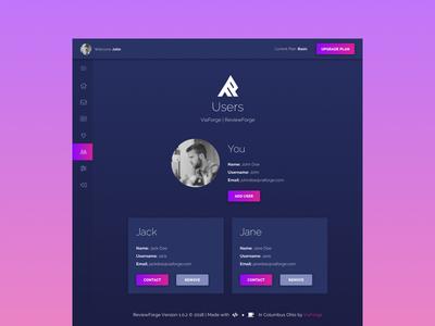 RF - Users marketing web design minimal ux ui web design