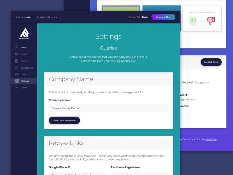 RF - Settings Version 2 marketing material agency website minimal ux ui web design