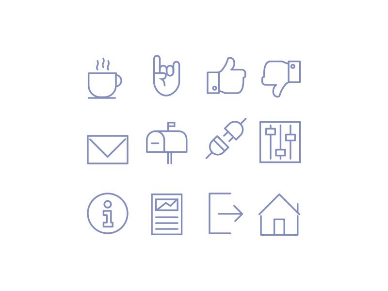 RF - Icons icon icons set icons line icons line branding logo vector illustration ux ui