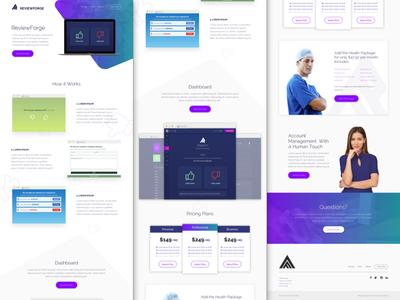 ReviewForge - Landing Page marketing web design agency minimal website ux ui web design