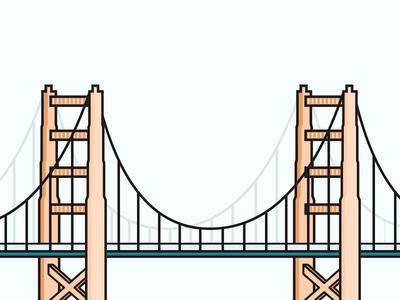 San Francisco Bridge Illustration