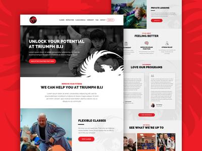 Triumph BJJ - Initial Home Page Design