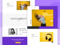 Exploration - Marketing website