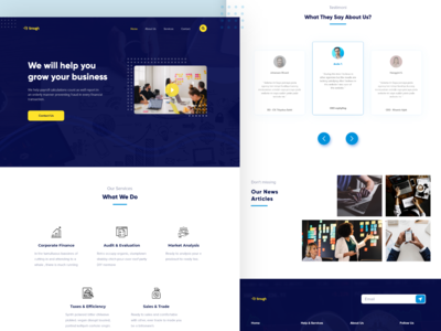 smugh - Business consultant landing page