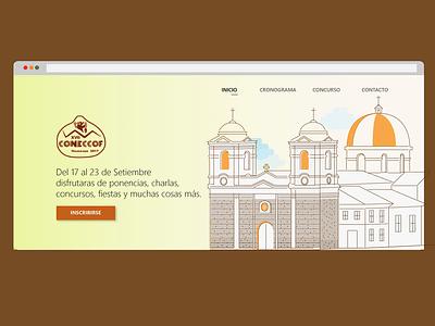 Coneccof Website coneccof event web ui huancayo