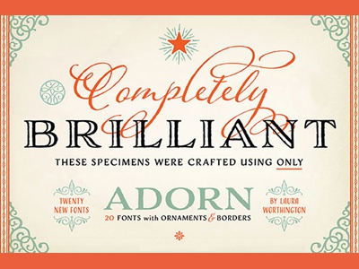 Adorn font type typeface typography calligraphy lettering wedding invitation vintage distressed titling headline