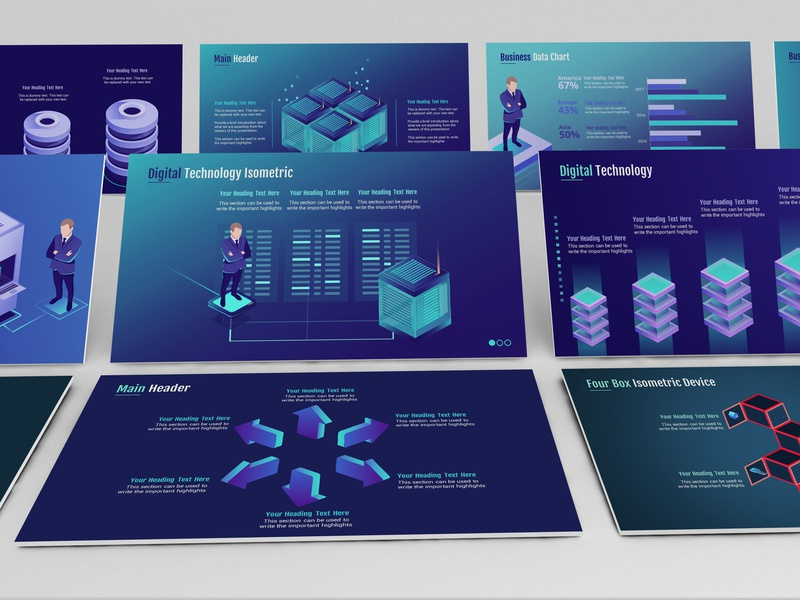 Smart Technology Powerpoint Template By Ink Ppt Dribbble Dribbble