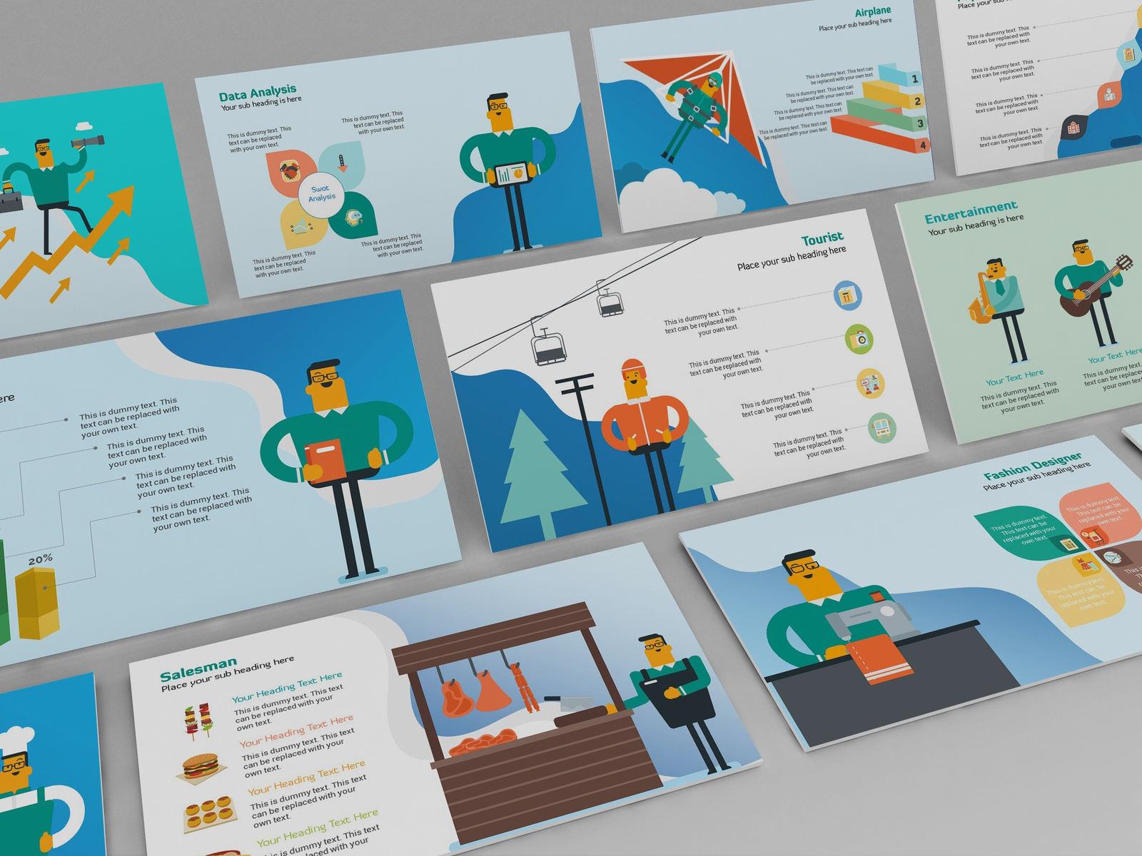 professions infographic ppt template by ink ppt dribbble dribbble