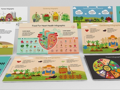 Mega Food PowerPoint Infographic Set