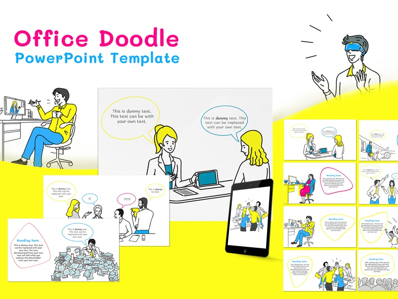 Office Doodle PowerPoint Template by INK PPT on Dribbble