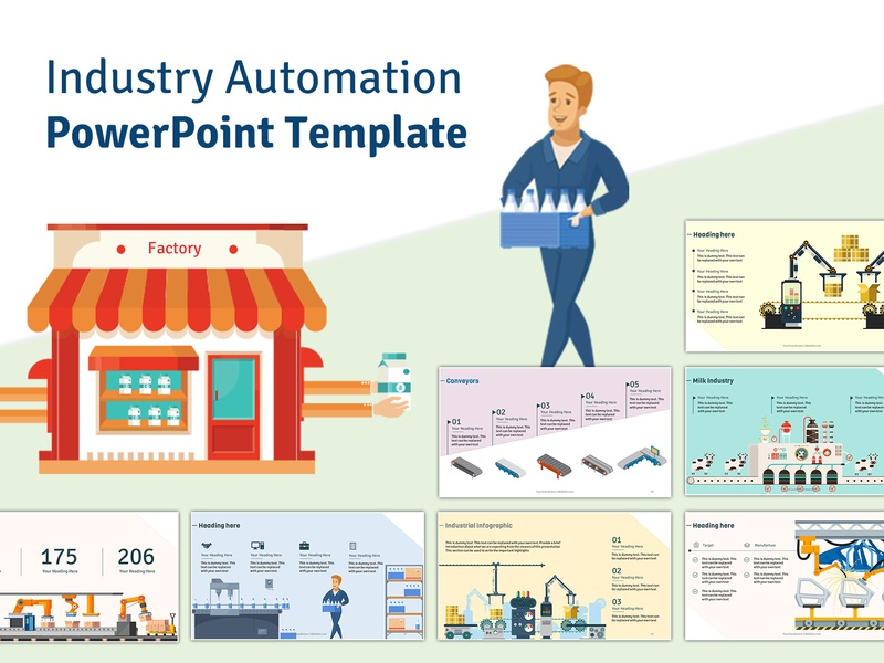 industry automation powerpoint template by ink ppt