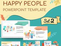 Happy People Set 2 Presentation Template