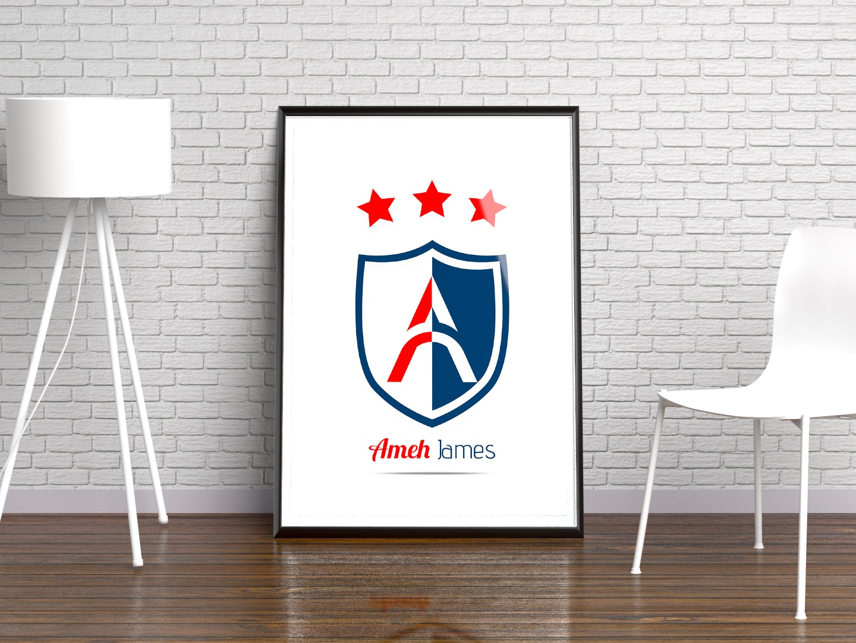 Three Star Badge logo design branding