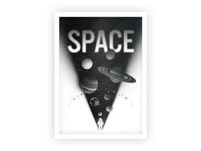 Space Solar System print poster adobe branding cosmos retro texture typography illustrator illustration vector space space art