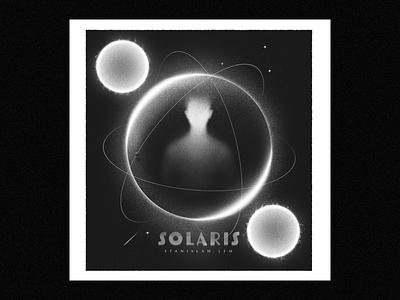 Solaris stars procreate design poster 2d cosmos texture retro cover book space illustration illustrator