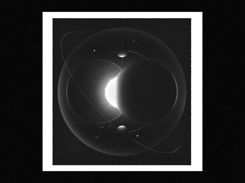 cosmos planet stars poster cosmos retro texture space 2d illustration illustrator design adobe