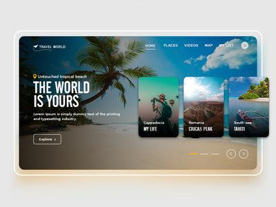 Travel web page ui design typography branding design ui