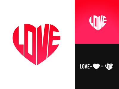 Love Design illustration icon typography design logo